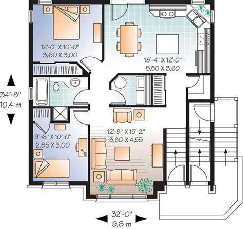 family floor plans multi family plan 64883 at familyhomeplans