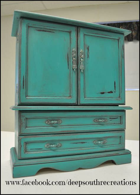 chalk paint turquoise turquoise jewelry box painted with miss lillian s topsy
