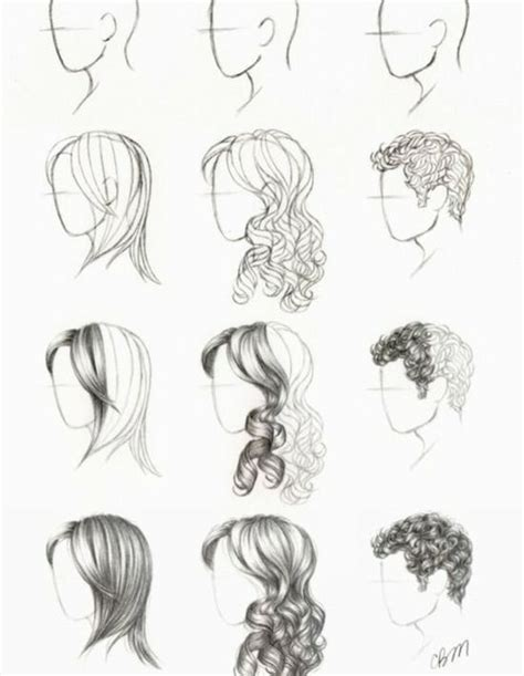 how to draw curly hair how to draw hair yes more hair drawing stuff