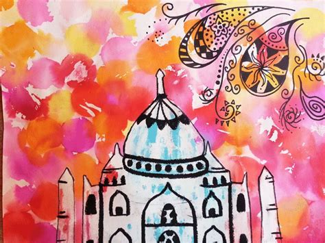 neon paint india this taj mahal project is a great way to introduce