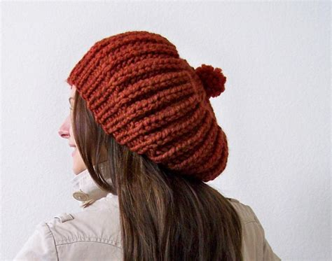 knitted beanies slouchy beanie knit pattern a knitting