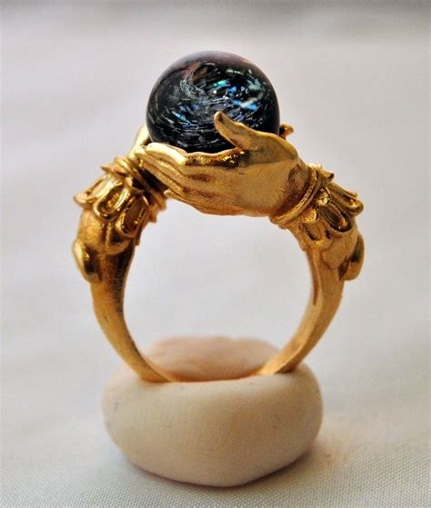 ring jewelry omnia oddities the celestial galaxy oracle in brass