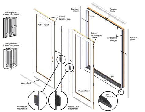 patio door replacement parts andersen frenchwood hinged patio door replacement parts