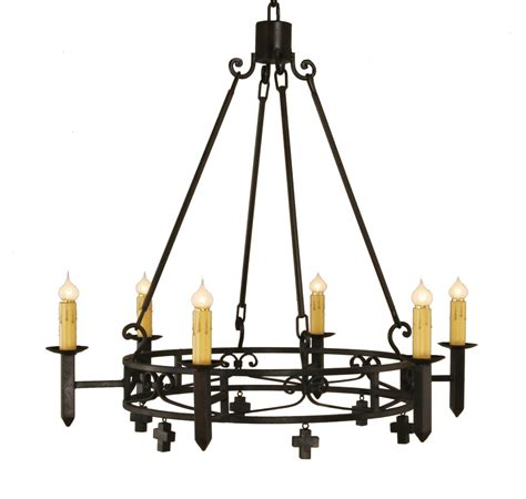 mission chandeliers mission forge chandelier with mini crosses