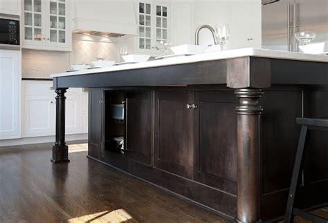 kitchen island legs wood stained kitchen island design ideas