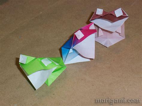 talking frog origami gallery favorite origami models folded by mari