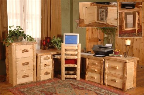 rustic home office furniture log furniture rustic home office home