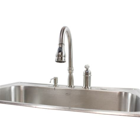 kitchen sinks drop in 33 inch stainless steel top mount drop in single bowl