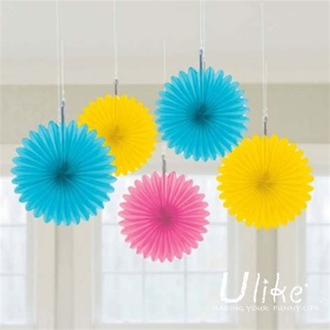 color paper crafts ideas 10 10ps mixed color honeycomb flower lantern fan design