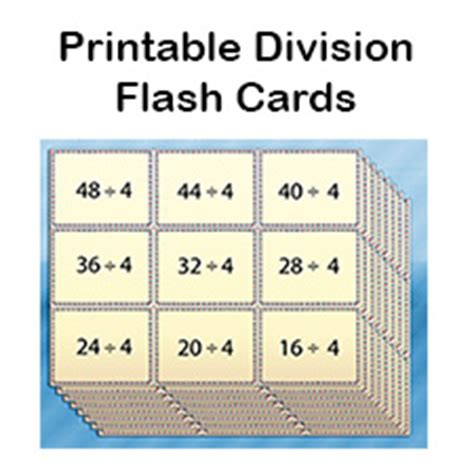 how to make printable flash cards free division flash cards for printable pdf
