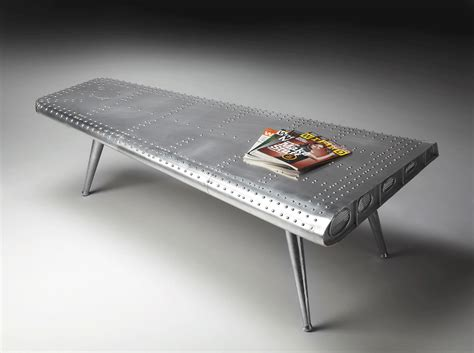 airplane wing coffee table airplane decor airplane room