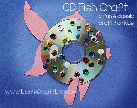 cd crafts for cd fish craft