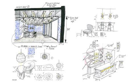 Concept Origami Bar Triline Studio Architecture 3d