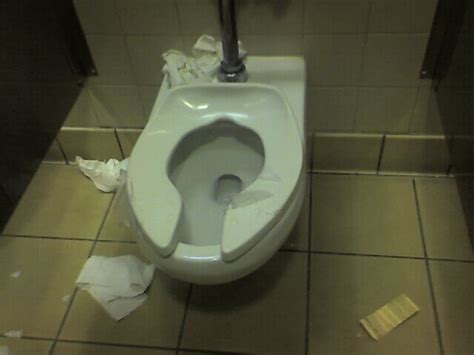 Toilet Paper On Public Toilet Seat by Next Time You Use A Public Washroom Do Not Cover The