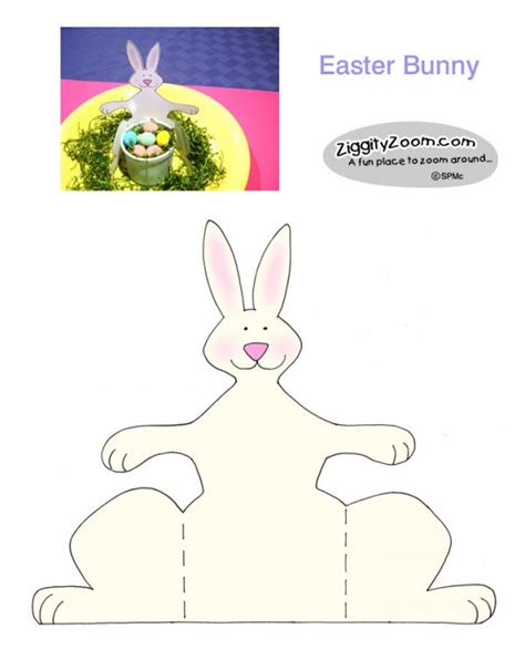 easter bunny paper crafts paper bunny easy easter craft ziggity zoom