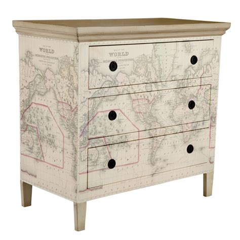 decoupage maps on furniture wisteria