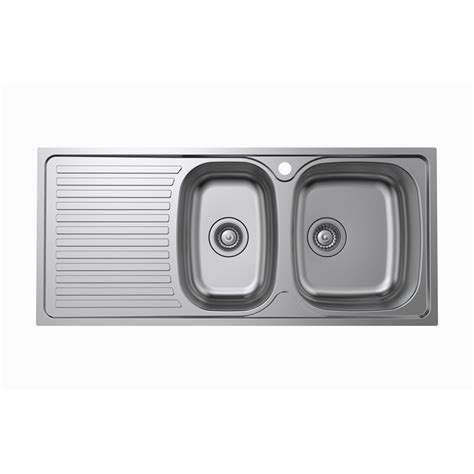 squareline 1080 kitchen sink with kinetic 1080 x 480 x 150mm 1 3 4 rh bowl sink bunnings