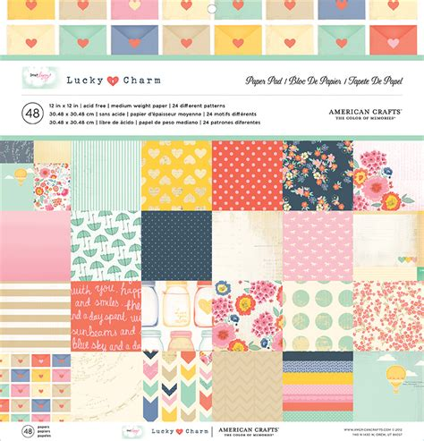 american craft paper american crafts dear lizzy lucky charm 12 x 12 paper pad