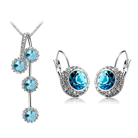 metal sts for jewelry rhinestone silver gold plated jewelry set free shipping