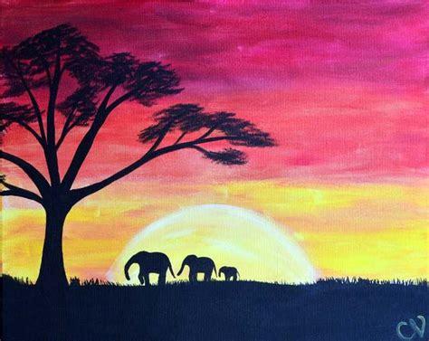 paint nite nashville safari sunset paint nite nashville buy tickets at