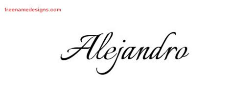 alejandro archives free name designs