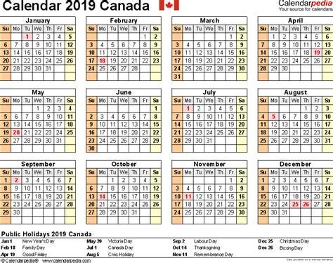 2019 calendar canada 2018 calendar with holidays