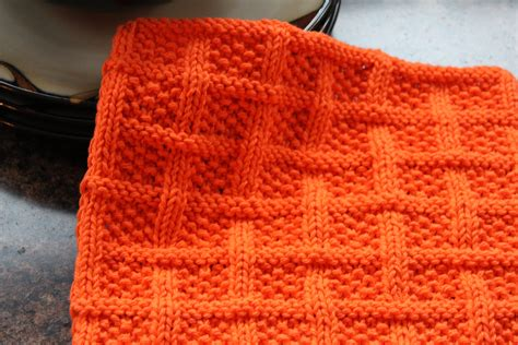 knitted dishcloths patterns square lattice dishcloth designs