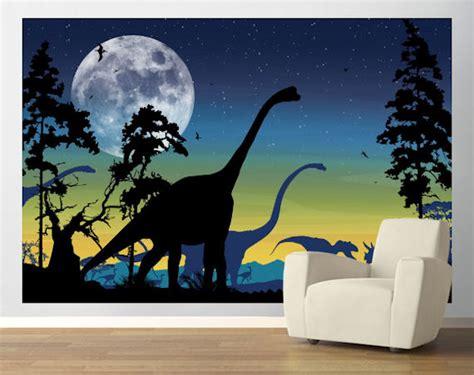 dinosaurs murals walls dinosaur landscape navy easy up mural