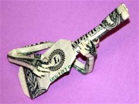 origami guitar dollar bill 1000 images about origami on