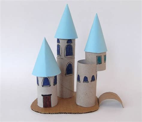 castle crafts for princess palace with toilet paper roll toilet paper