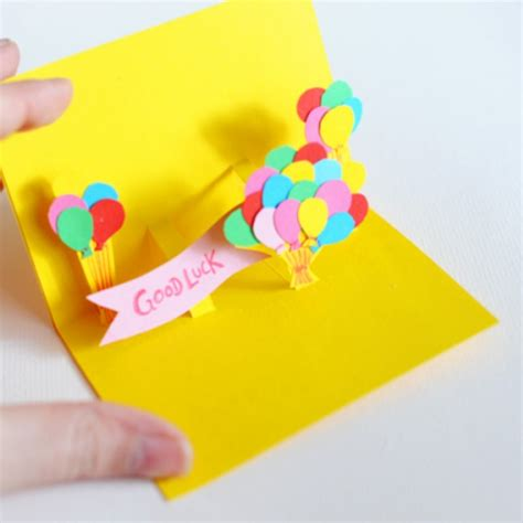 how to make a 3d card 3d pop up a balloon card handmade cardsbay