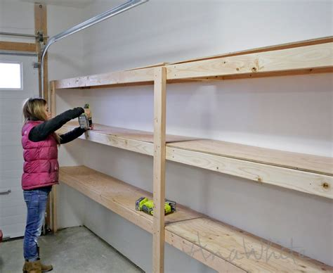 shelves for garage how to build garage shelving easy cheap and fast