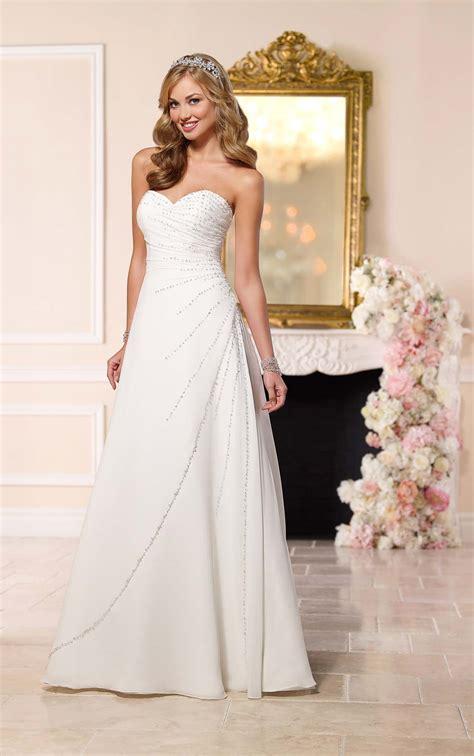 wedding dresses with beading diamante beaded wedding dress stella york wedding dresses