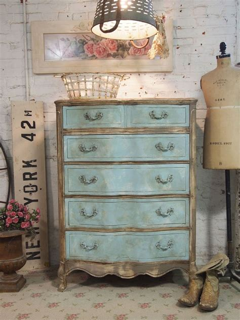 chalk paint shabby chic reserved for tali painted cottage chic shabby aqua