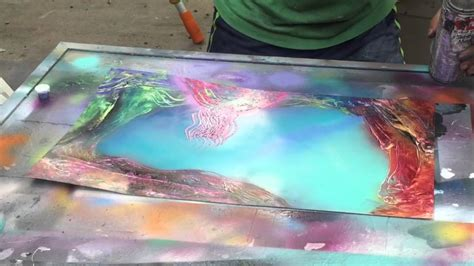 spray paint reef spray paint live tutorial coral reef by ticasso