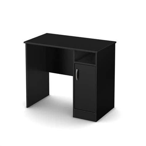 black office desk south shore axess small desk in black 7270075