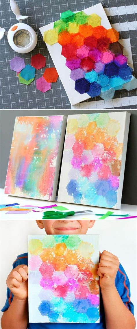 arts and crafts with tissue paper crafts watercolor painting with tissue paper via