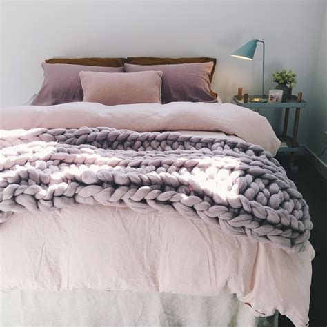 chunky knit blankets lilac chunky knit throw bed armchair or sofa 100