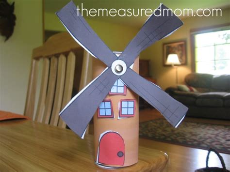 paper windmill craft letter w crafts the measured