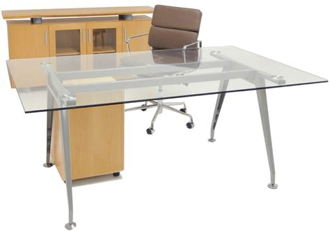 glass office furniture glass table desk credenza mobile file furniture package