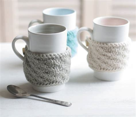 bone knit tea knitted mug cosy by bloomfield
