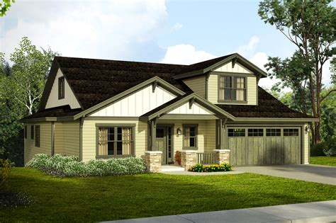 Craftsman House Plan new craftsman house plan for a downhill sloped lot