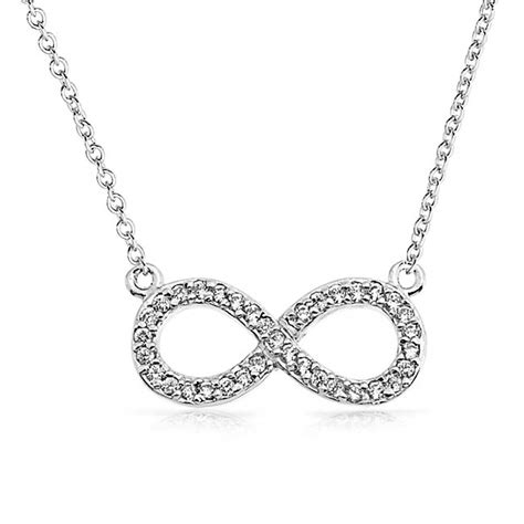 jewelry pendants for jewelry pave cz figure eight infinity pendant 925 sterling