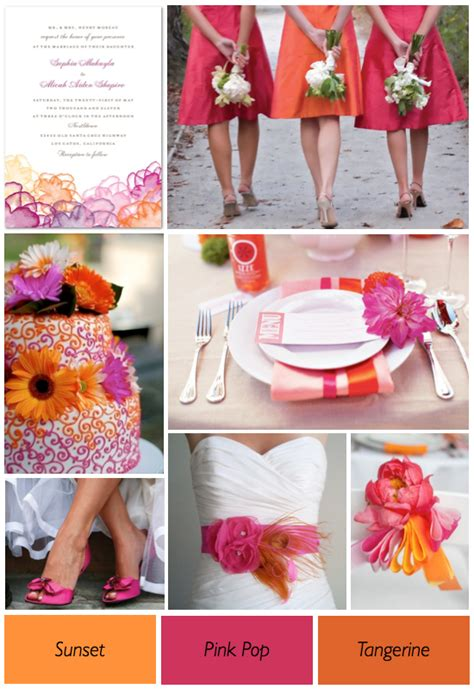 orange color theme pink and orange wedding ideas weddings by lilly