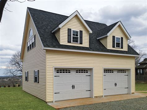 Build 2 Car Garage built on site custom amish garages in oneonta ny amish