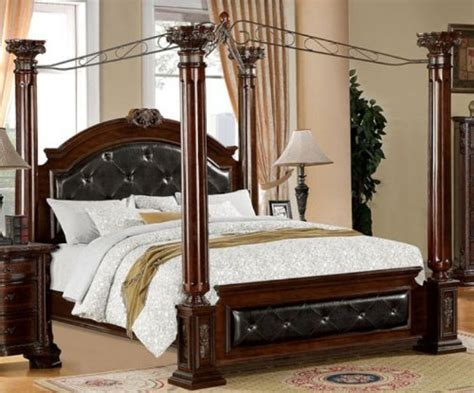 cal king size bed frame mandalay brown cherry finish cal king size bed frame set