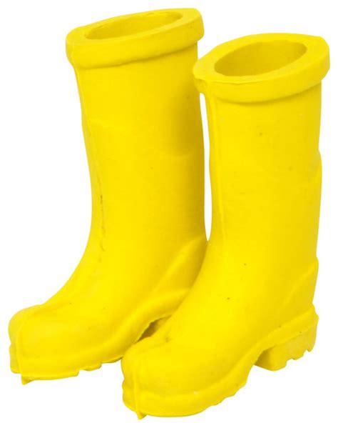 rubber st made yellow rubber boots for miniature garden