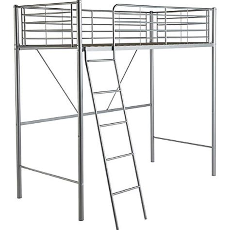 metal high sleeper bed frame with bibby mattress
