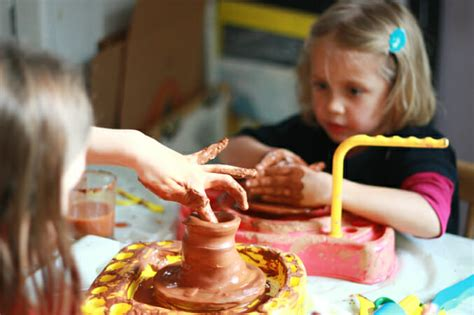 for children to make a pottery wheel for using pottery wheels to