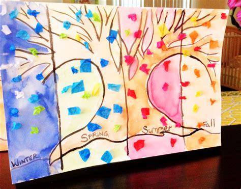 seasons crafts for 52 week funschool the seasons craft tutorial